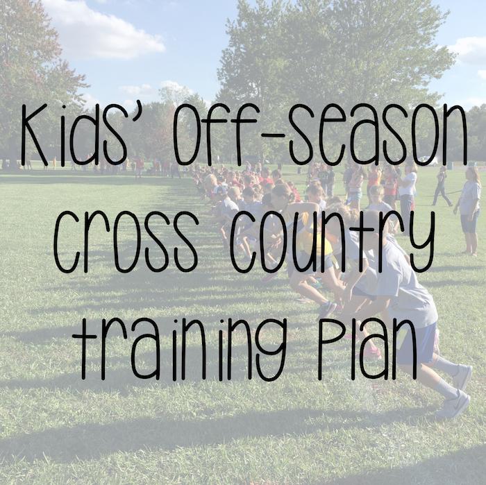 Kids' off-season cross country training plan