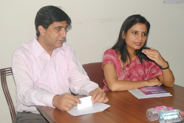 Mr. Ajay Davessar, VP & Global Head Corporate Communications, HCL (Left) and Ms. Nidhi Pundir, Director – CSR Lead, HCL Foundation