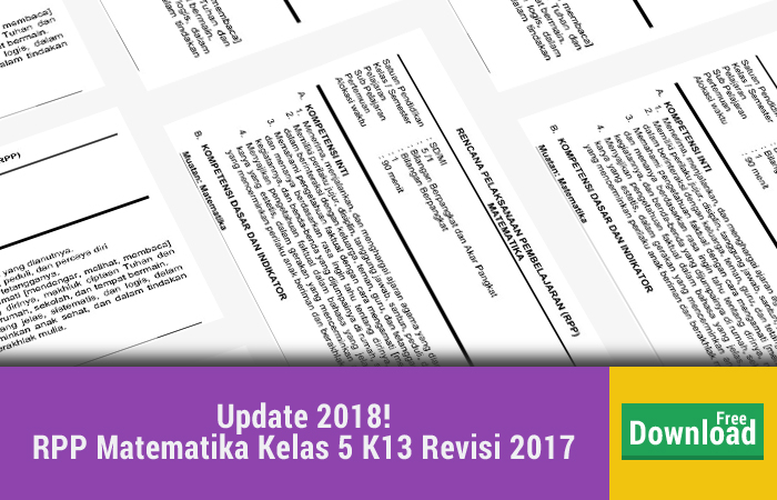 RPP Matematika Kelas 5 K13 Revisi 2017