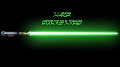 Espada fantástica sable luz Luke Skywalker