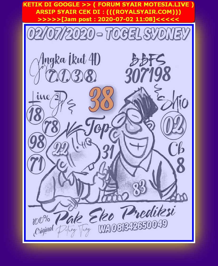 Kode syair Sydney Kamis 2 Juli 2020 17