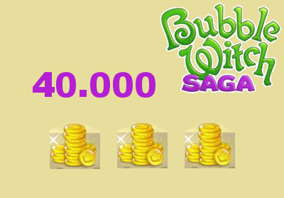 NEW 40.000 COINS FOR BUBBLE WITCH SAGA
