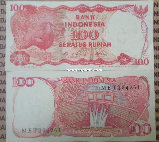 Uang Kertas Kuno 100 Rupiah Tahun Emisi 1984