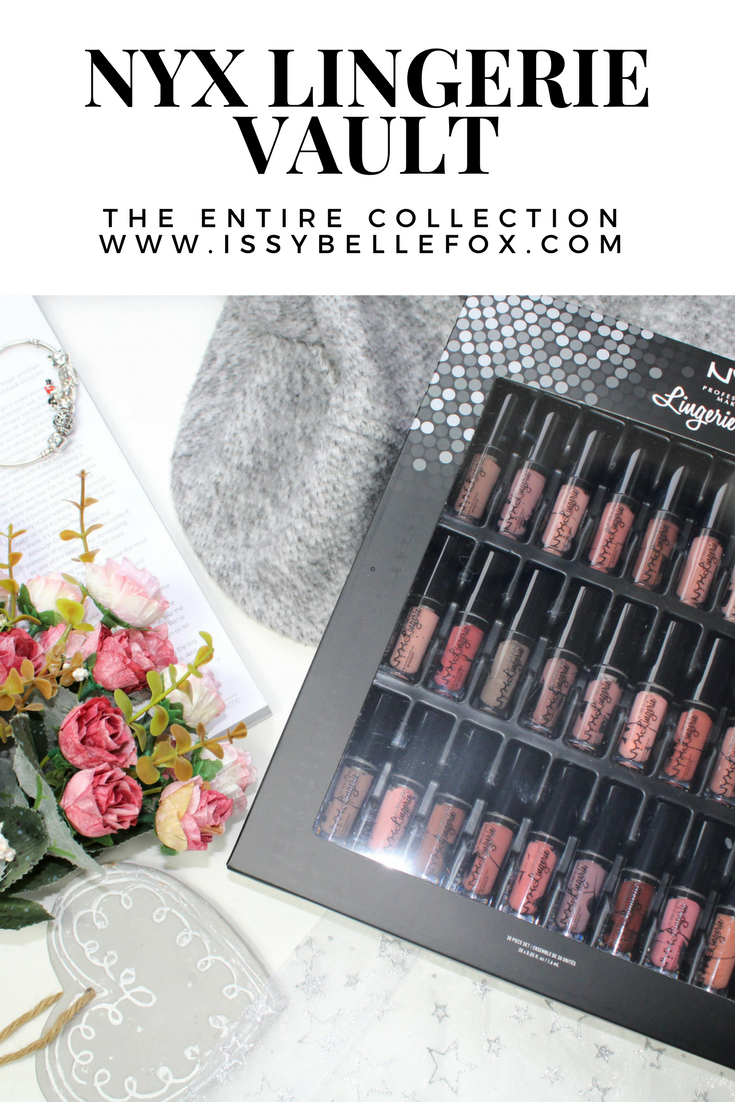 NYX PROFESSIONAL MAKEUP Lingerie Vault with swatches pinterest
