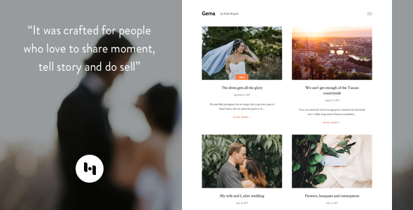 Template Gema: Theme for Photoblogger Blogging