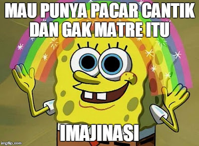 Meme SpongeBob Imajinasi