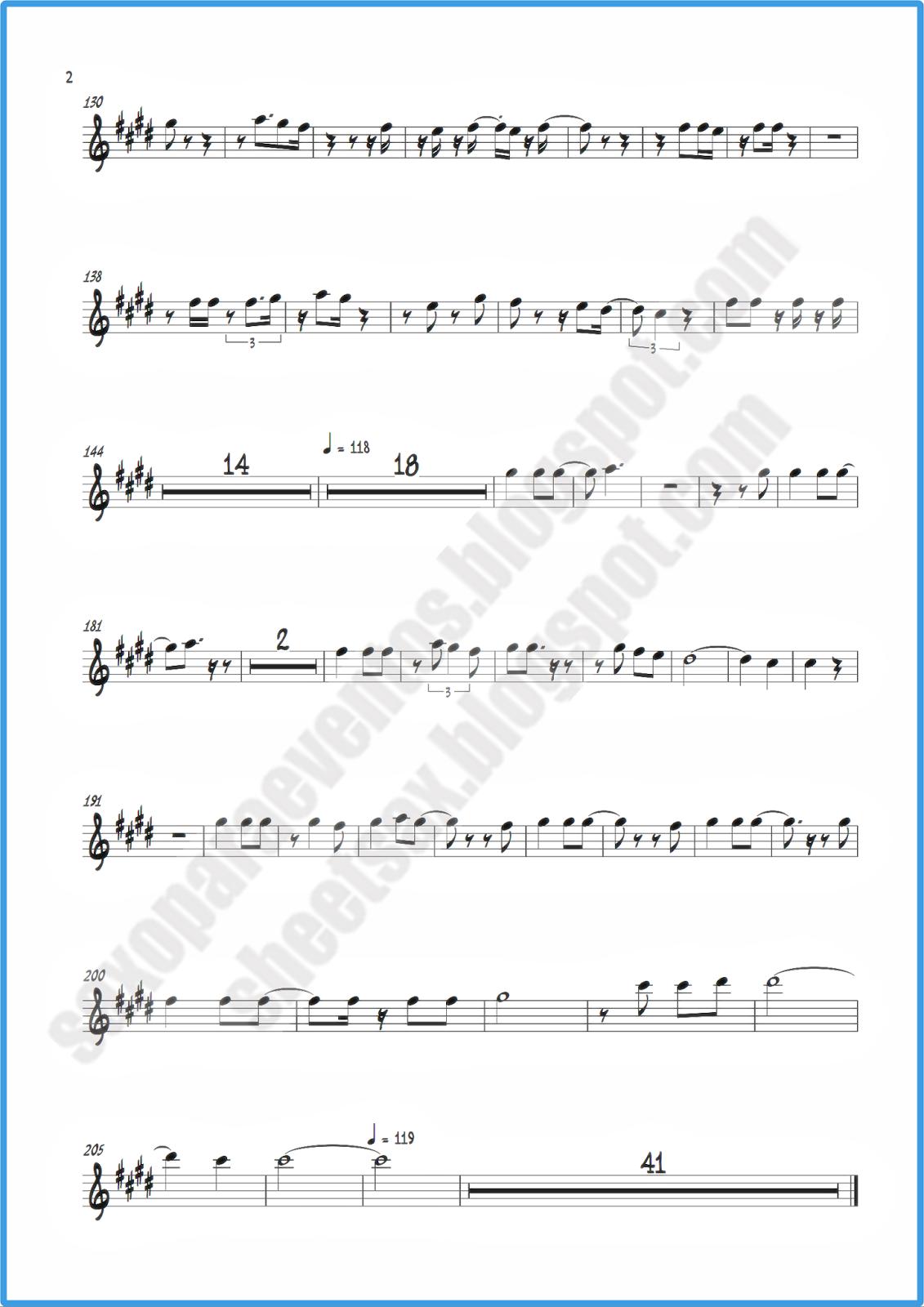 Alto sax sheet music butik work