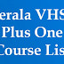 Kerala VHSE - Vocational Higher Secondary all Course List
