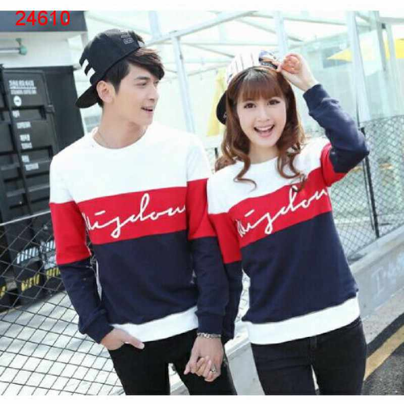 Jual Sweater Couple Sweater Wisdom Saga White Red - 24610