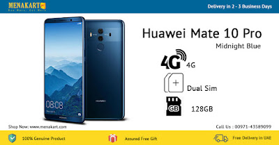 Huawei Mate 10 Pro, 4G, Dual Sim, 128GB, Midnight Blue