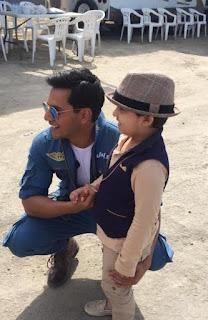 Javeria Saud Kids With Varun Dhawan and John Abraham