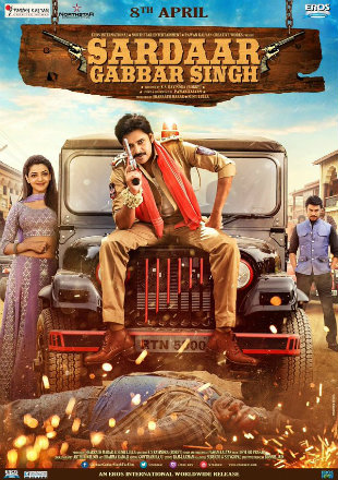 Sardaar Gabbar Singh 2016 DVDRip 500MB Hindi Dual Audio 480p Watch Online Full Movie Download bolly4u