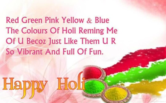 Holi sms for girlfriend and lover