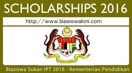 Biasiswa Sukan IPT 2016 - Kementerian Pendidikan Tinggi