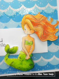 AJVD, Whimsie Doodles, Kecia Waters, mermaid, Copic markers