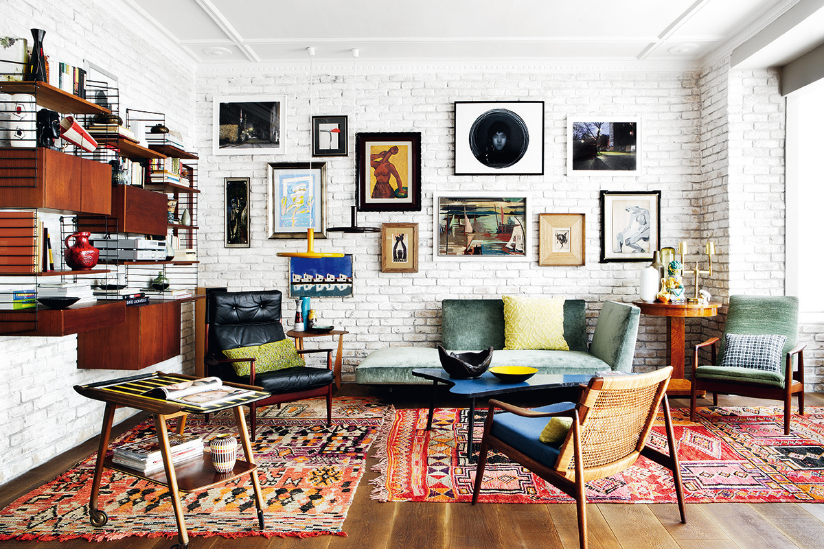 home of decorator mikel irastorza has a true vintage spirit and combines together a love for art and mid century modern design