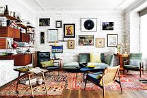 Mid Century Modern Living Room Boho Chic