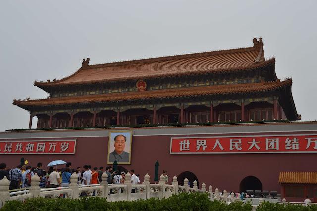 Los cinco puentes que da acceso a la Puerta de Tian'anmen (Beijing) (@mibaulviajero)