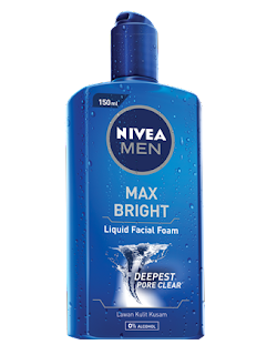 Nivea Men Liquid facial foam max bright
