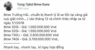Có nên mua BMW thanh lý giá rẻ