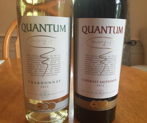 Quantum Chardonnay 2015 & Quantum Cabernet Sauvignon 2015