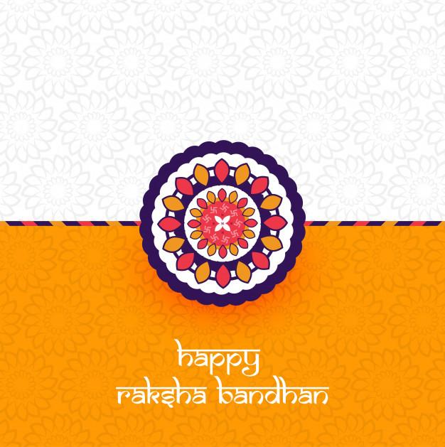 Beautiful Rakhi decorated Free Vector