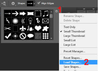 Load shapes in Photoshop.