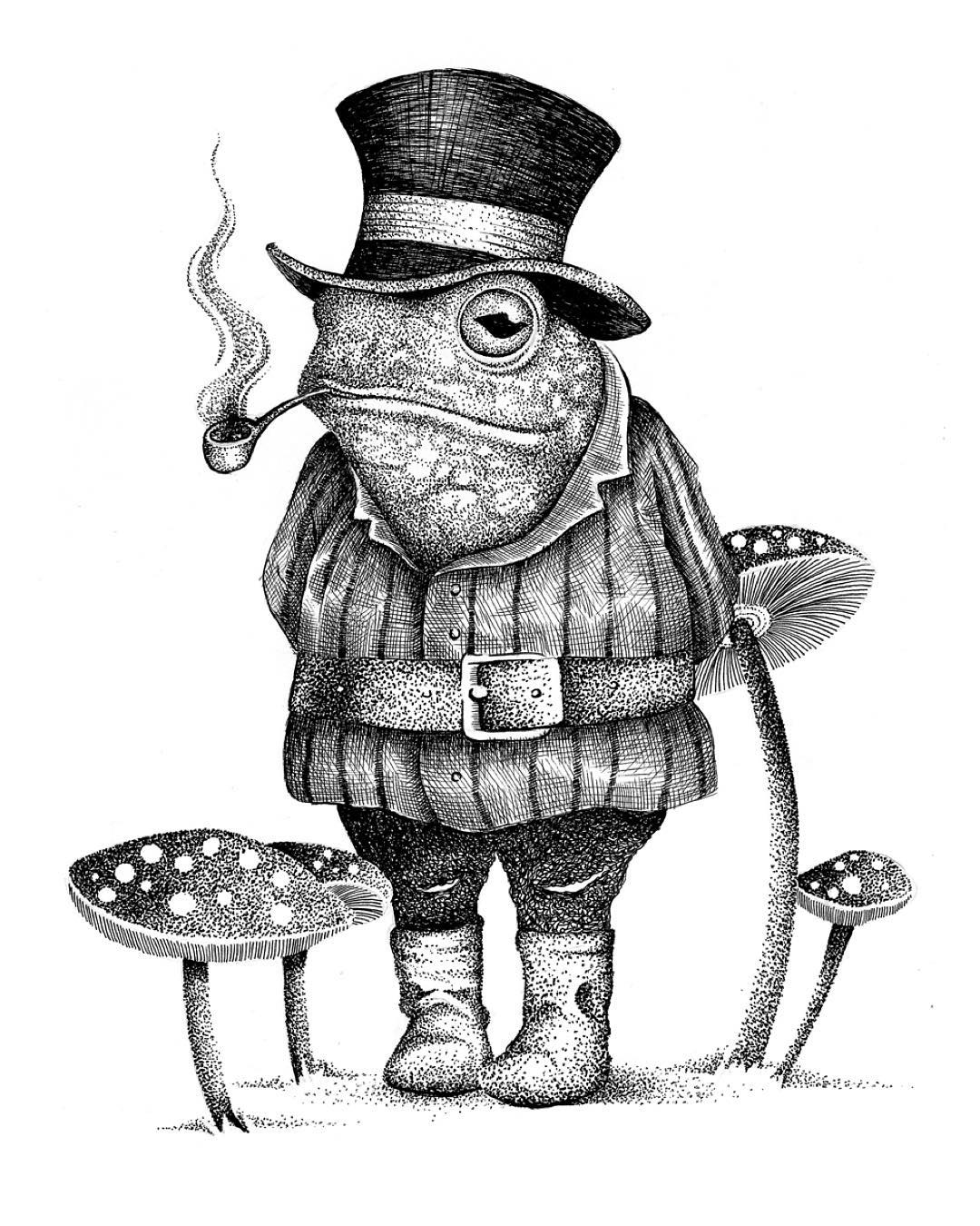 12-Mister-Frog-Thiago-Bianchini-Eclectic-Collection-of-Drawings-and-Illustrations-www-designstack-co
