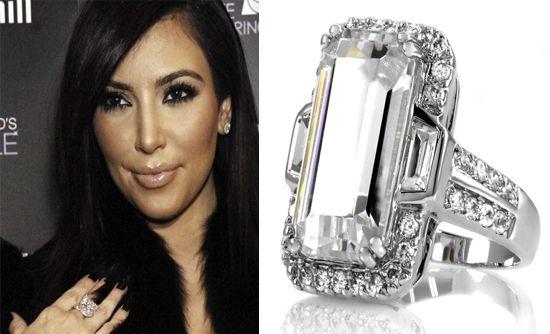 Anel noivado diamantes solitário da Kim Kardashian e jogador de basquete