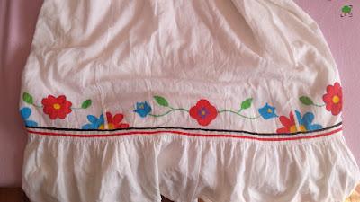 biel, kwiaty, folk, DIY, przerabianie ubrań