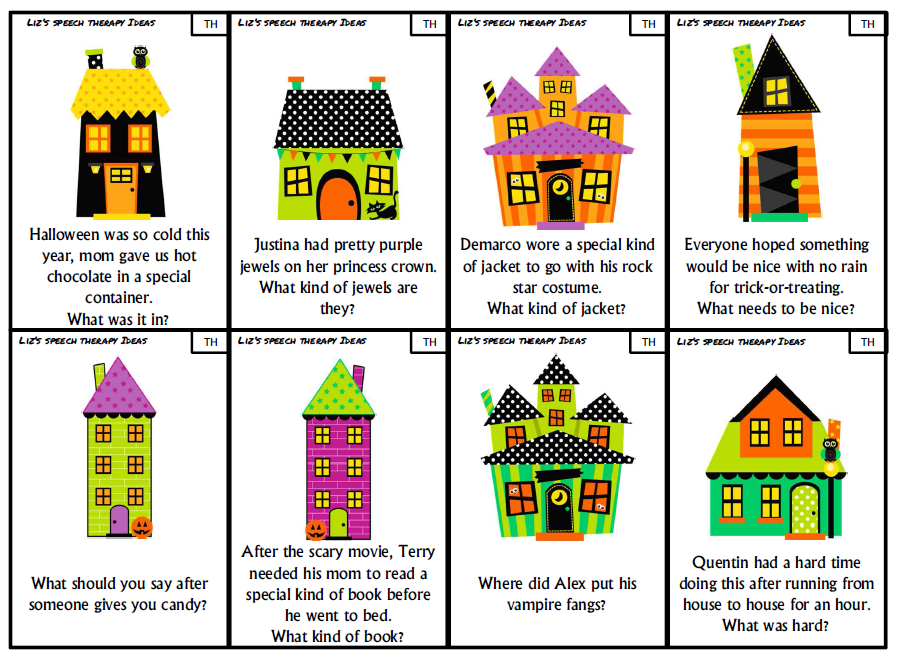 Translations Into Italian: Liz's Speech Therapy Ideas: Halloween Articulation