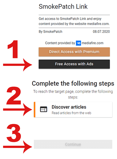 remove ad-block for free links, use desktop