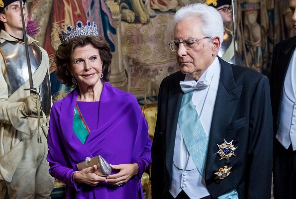 Princess Sofia wore Zetterberg Couture Adele Silk Top and Adele Lace Skirt. Crown Princess Victoria wore a new gown. Diamond tiara