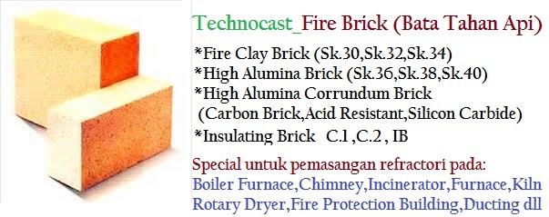 Bata Tahan Api SK/Fire Brick SK Spesialis Pasang Boiler Furnace,Kiln & Incinerator