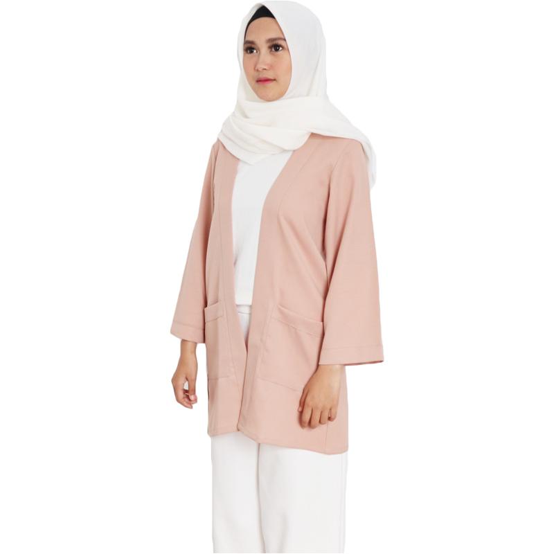 Outer Wanita Atasan Cardigan Muslim Casual - Nude