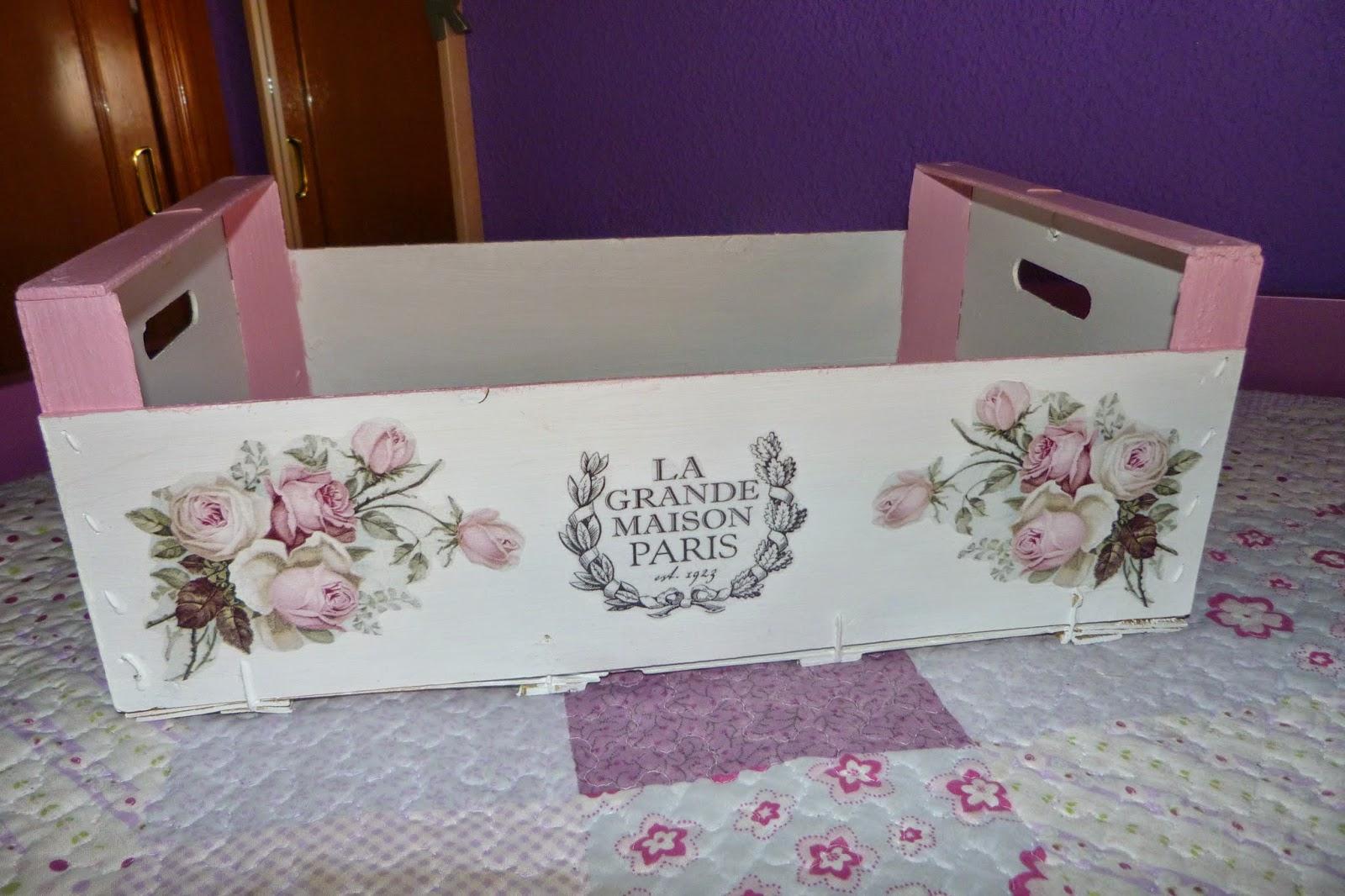 Caja de fruta reciclada isabel vintage - Caja decorada con fotos ...