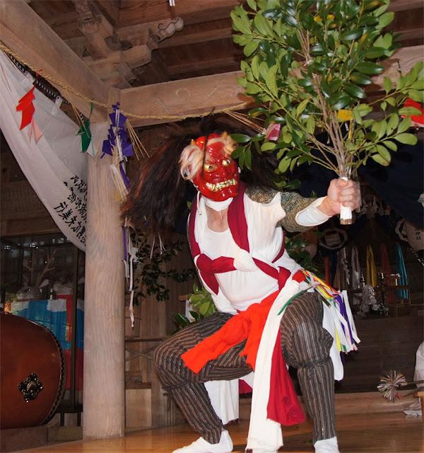 Tsunoyama Kagura (Shinto music and dance numbers) at Mishima Jinja Shrine, Yusuhara Town, Kochi Pref.
