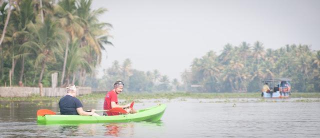 Kayaking the Kerala backwaters, India