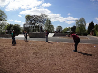 Petanque at Alexandra Park in Edgeley, Stockport