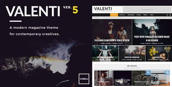 Download Valenti v5.0.1 WordPress HD Review Magazine News Theme
