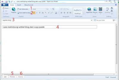 cara menulis artikel blog secara offline
