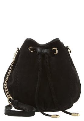 torebka worek na ramię Zalando zamszowa torebka z łańcuszkiem trendy 2016