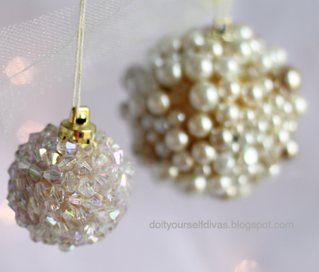 Do it yourself divas diy jeweled ornaments solutioingenieria Choice Image