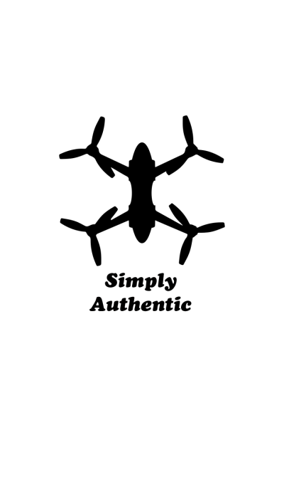 Simply Authentic Drone White-Black