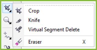 Crop Tool Flyout CorelDRAW X7