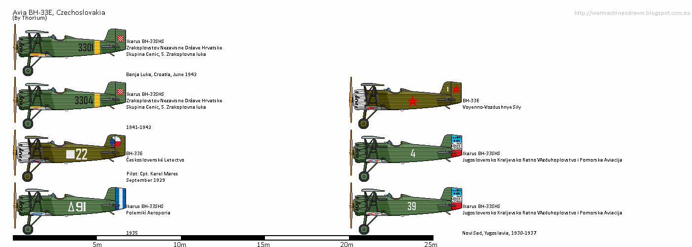 Sources: 1. Salamander Books - The Complete Book of Fighters 2. https://en.wikipedia.org/wiki/Avia_BH-33