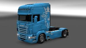 Blue Scania RJL paintjob mod