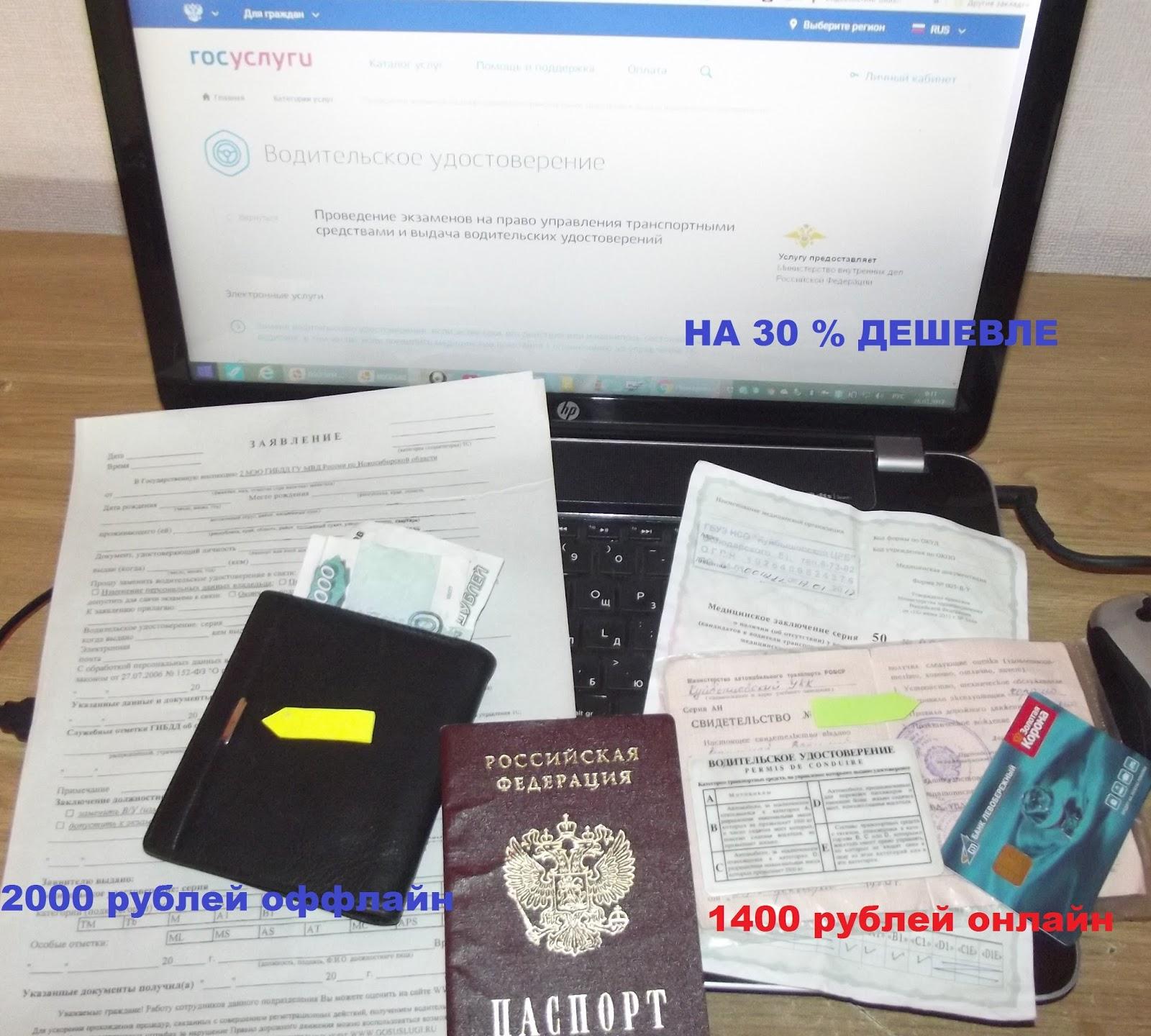 сделать водительское удостоверение онлайн