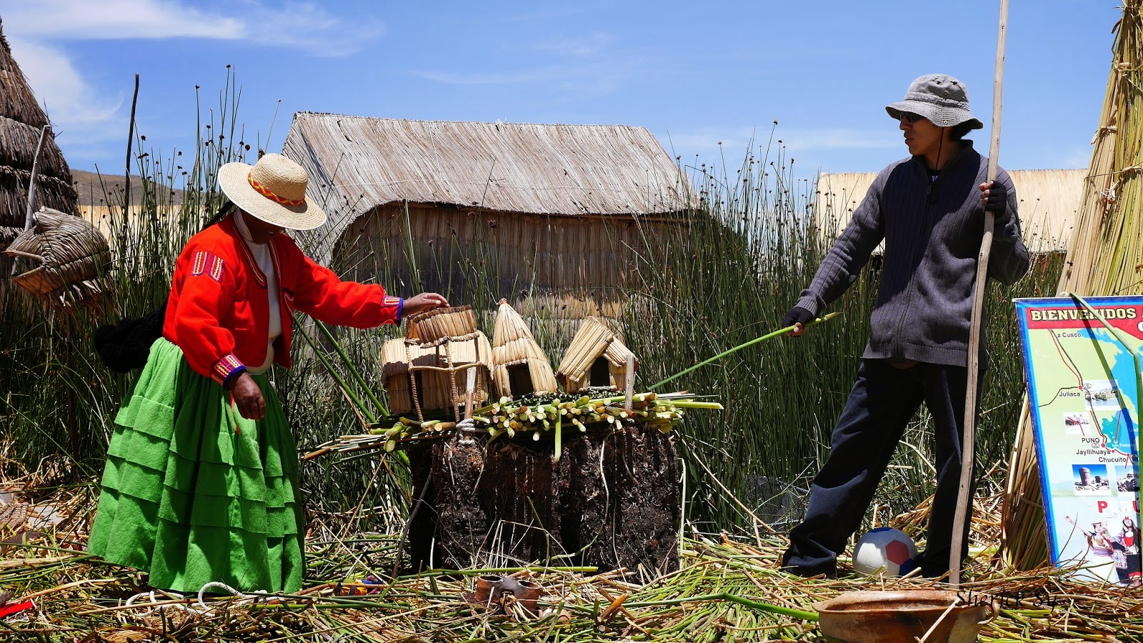 Totora Reed Islands, Uros, Puno, Peru