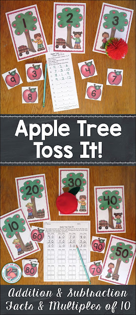 This is an apple themed addition and subtraction resource with active engagement, perfect for first and second grade math practice and review. This is a flexible resource covering basic addition and subtraction fact mental strategies and adding and subtracting two-digit numbers with multiples of ten (i.e. 38 + 40 or 50 - 20). It is designed for individual or small group use. Several stations can also be set up for a whole class activity. You choose the strategy or skill that would be most beneficial for a group of your students. $